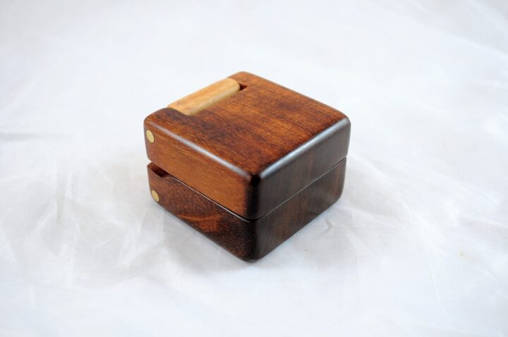 Ring Box - Koa & Curly Maple