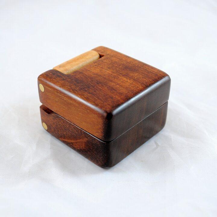 Ring Box - Koa & Curly Maple