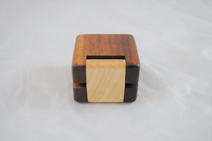Ring Box - Koa & Curly Maple - Back