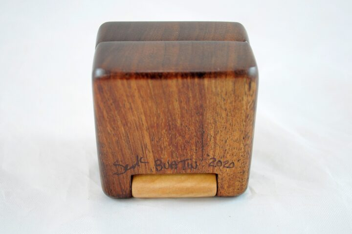 Ring Box - Koa & Curly Maple - Bottom