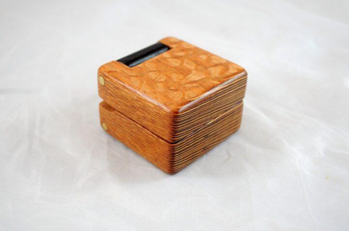 Ring Box - Lacewood & Wenge
