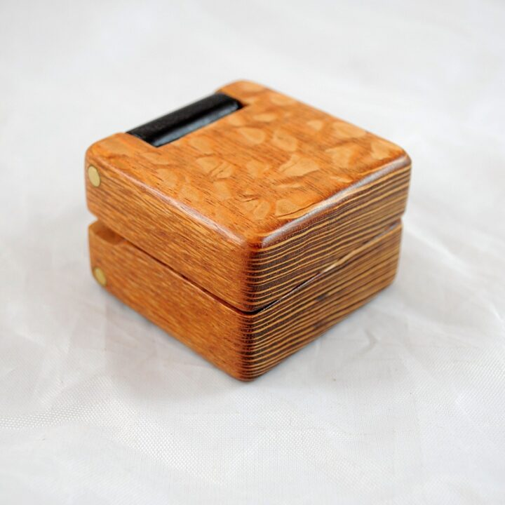 Ring Box - Lacewood & Wenge