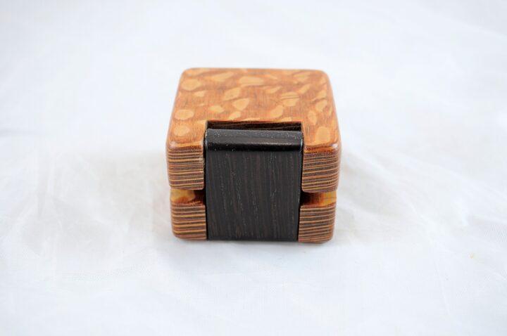 Ring Box - Lacewood & Wenge - Back