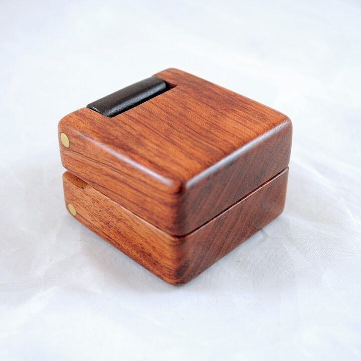 Ring Box - Bubinga & Peruvian Walnut