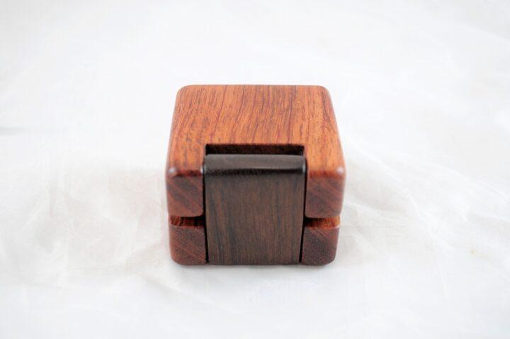 Ring Box - Bubinga & Peruvian Walnut - Back