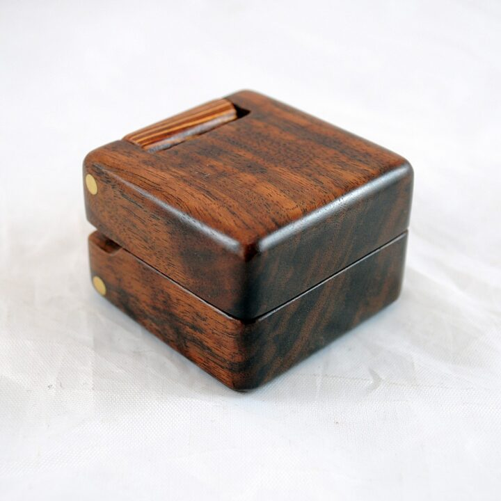 Ring Box - Claro Walnut & Lacewood