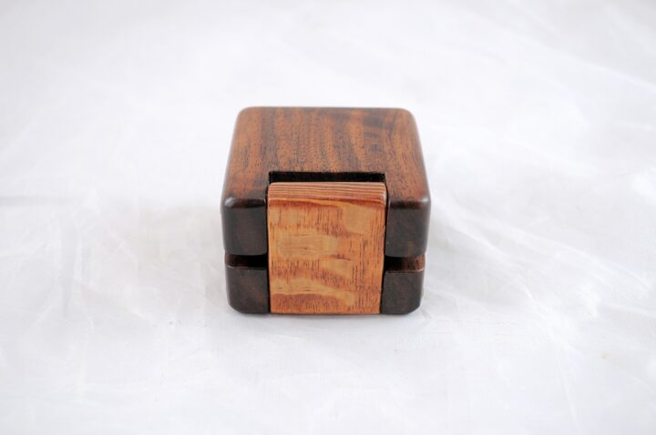 Ring Box - Claro Walnut & Lacewood - Back