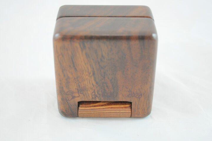 Ring Box - Claro Walnut & Lacewood - Bottom