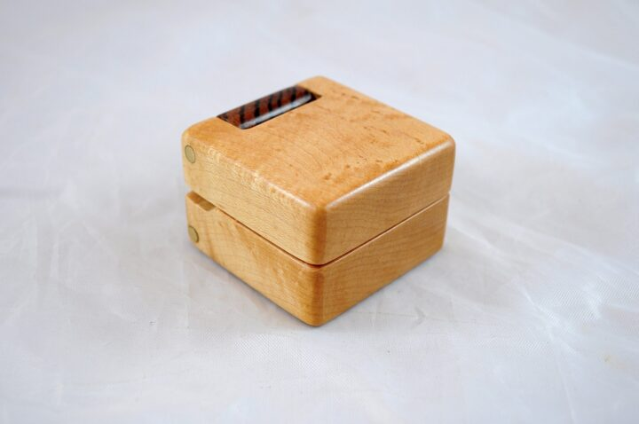 Ring Box - Birdseye Maple & Zebrawood