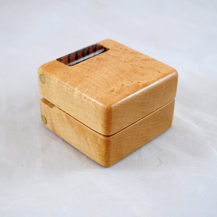 Ring Box - Birdseye Maple & Zebrawood