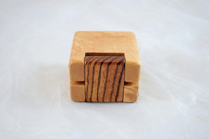 Ring Box - Birdseye Maple & Zebrawood - Back