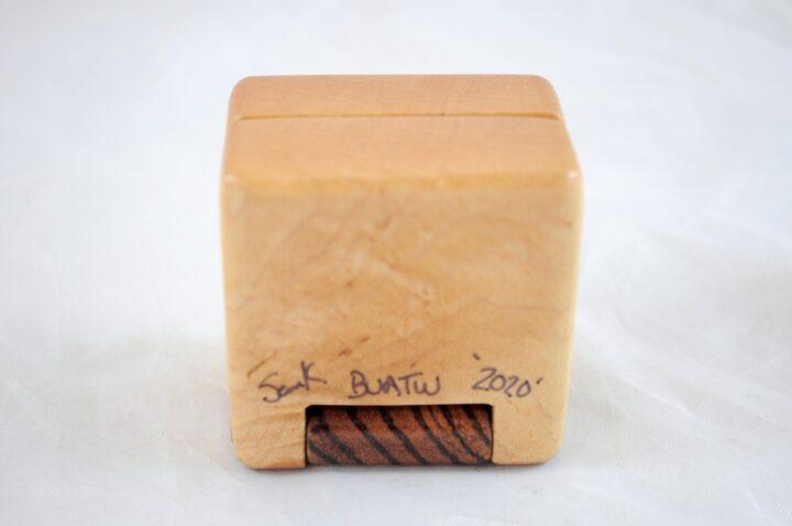 Ring Box - Birdseye Maple & Zebrawood - Bottom
