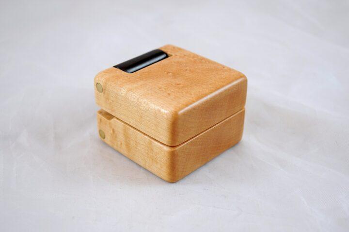 Ring Box - Birdseye Maple & Roasted Curly Maple