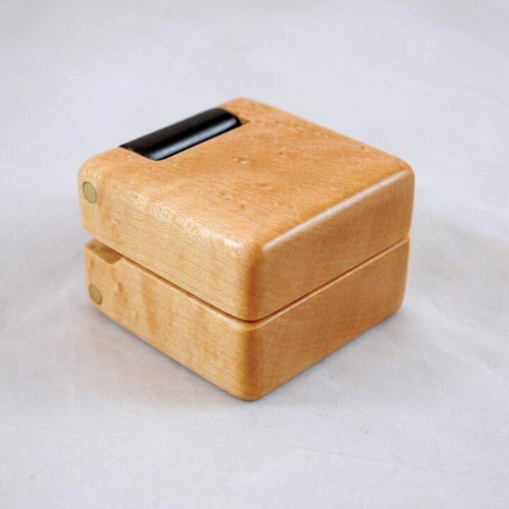 Ring Box - Birdseye Maple & Roasted Curly Maple
