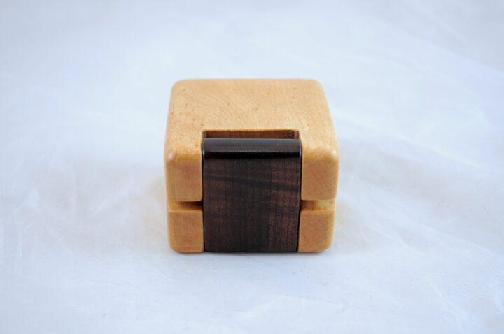Ring Box - Birdseye Maple & Roasted Curly Maple - Back