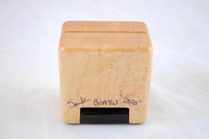 Ring Box - Birdseye Maple & Roasted Curly Maple - Bottom