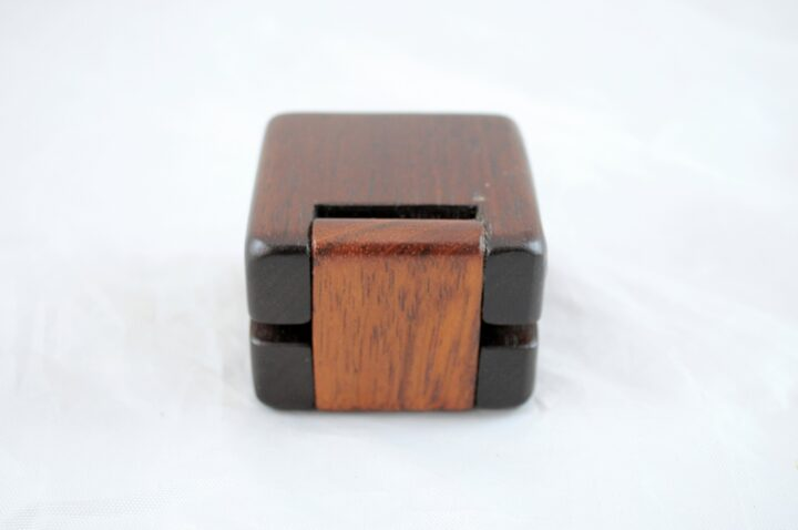 Ring Box - Peruvian Walnut & Jatoba - Back