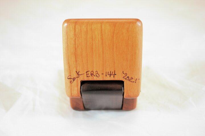 ERB-144 Black Cherry & Roasted Curly Maple - Bottom