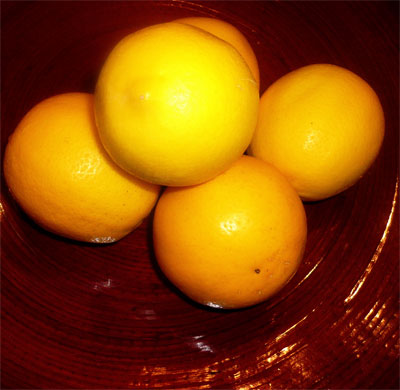 Organic Meyer lemons from my tree