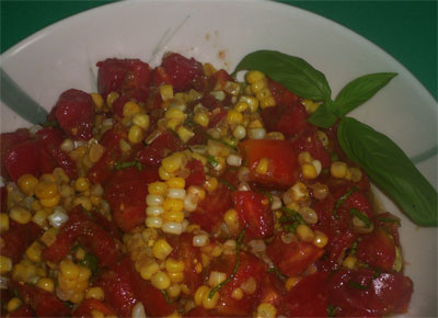 Corn, Tomato and Basil Salad