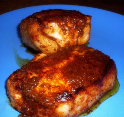 Juicy pork chops!