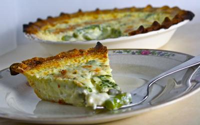 Goat's Milk Asparagus-Tarragon Quiche | Black Girl Chef's Whites