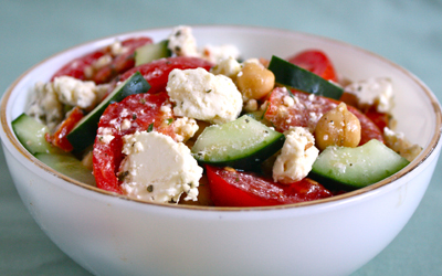 Cucumber, Chickpea and Feta Salad | Black Girl Chef's Whites