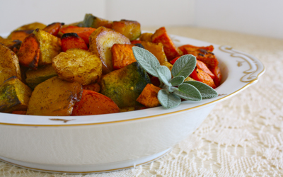 Spiced Roasted Winter Vegetables