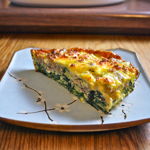 Chicken-Apple Sausage and Red Chard Frittata