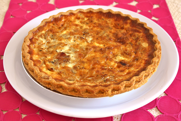 Caramelized Red Onion and Bacon Quiche