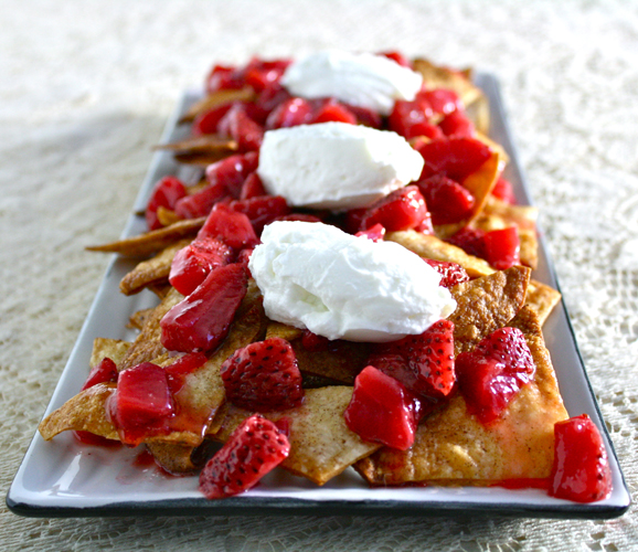 Strawberry Nachos | Black Girl Chef's Whites