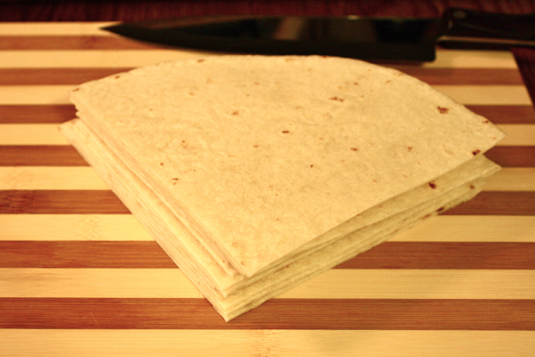 cut tortilla
