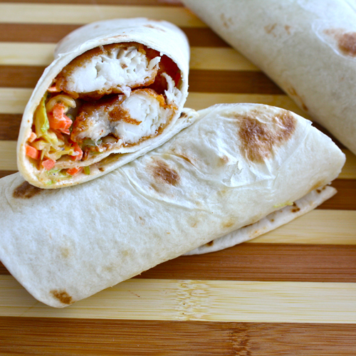Catfish Po'BoyTaco Wrap | Black Girl Chef's Whites