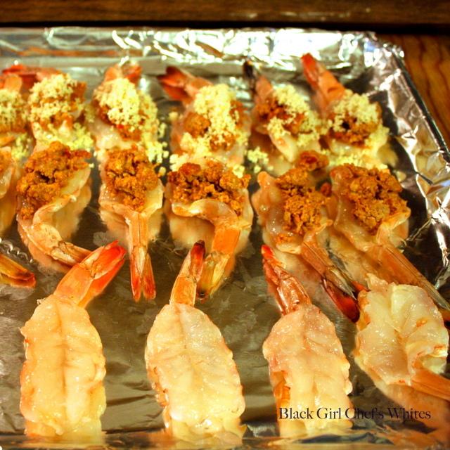 Chorizo Stuffed Shrimp | Black Girl Chef's Whites