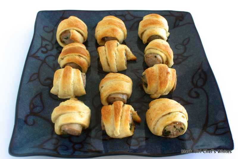 Chicken Sausage Pigs in a Blanket   Black Girl Chef's Whites