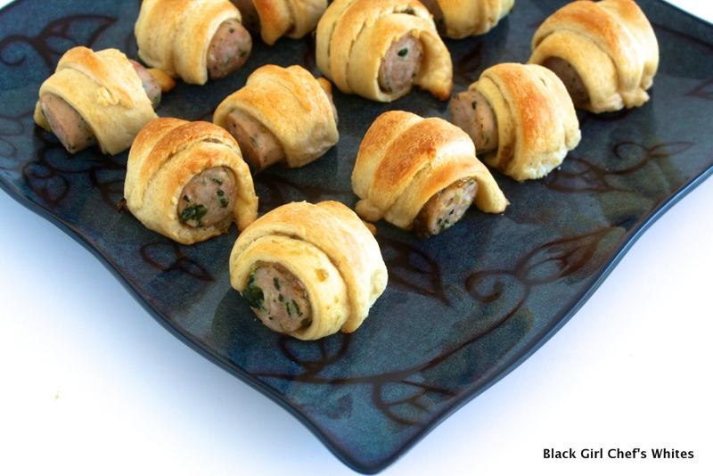 Chicken Sausage Pigs in a Blanket | Black Girl Chef's Whites