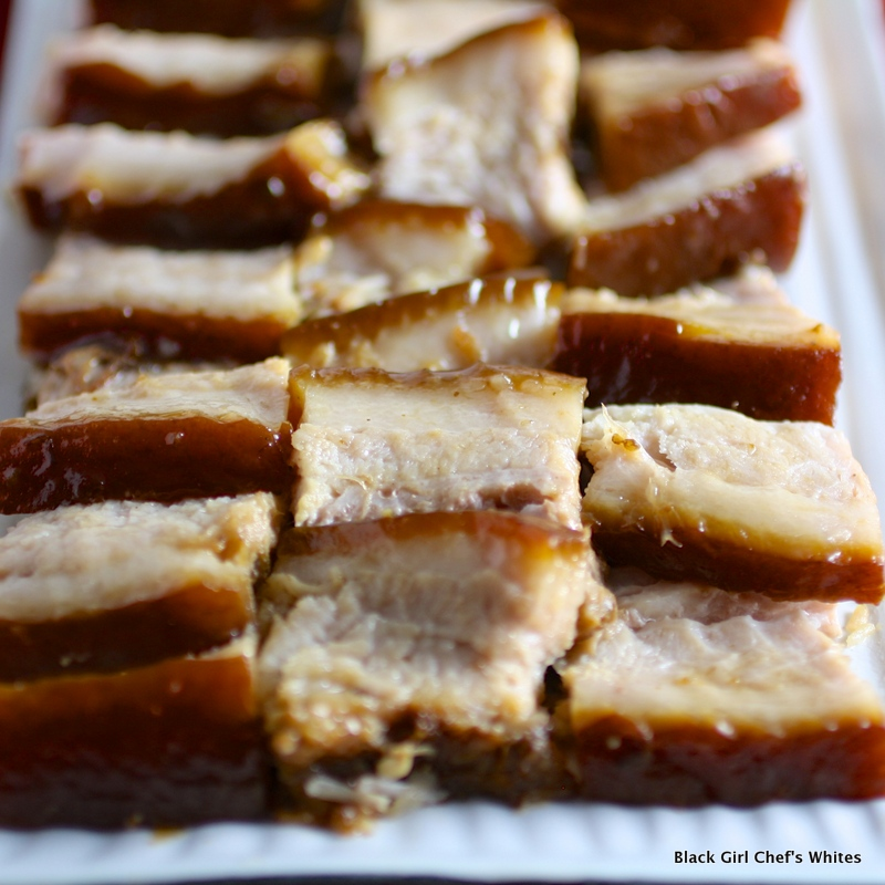 Red Cooked Pork Belly | Black Girl Chef's Whites