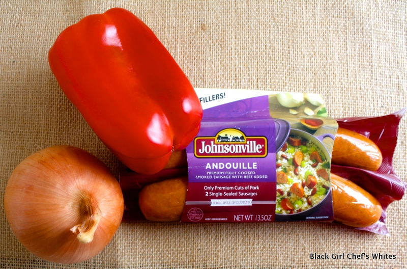 Johnsonville Andouille Sausage Still Life | Black Girl Chef's Whites