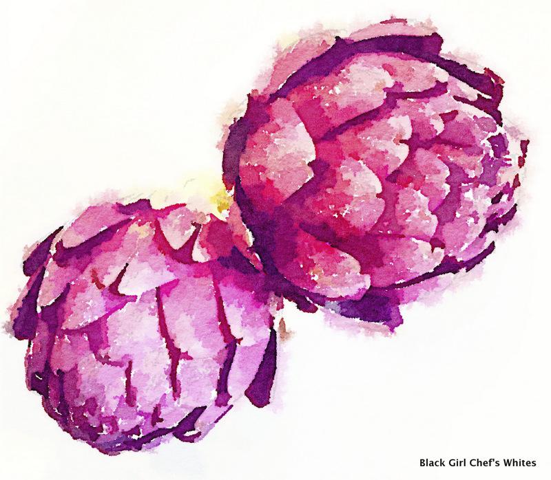 Purple Sangria Artichokes