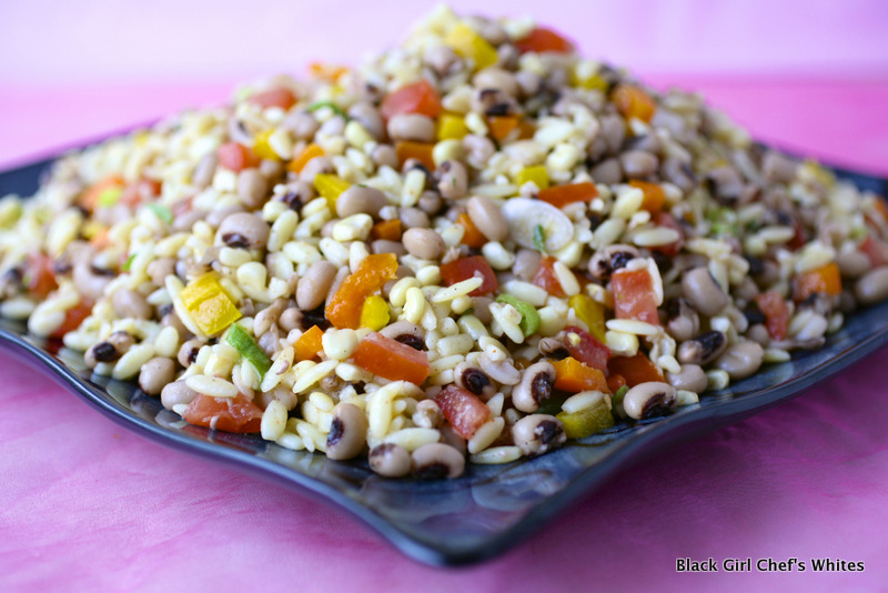 Black Eyed Pea Salad | Black Girl Chef's Whites