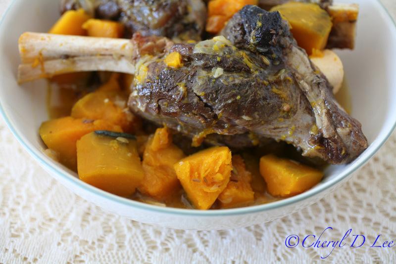 Braised Lamb Shanks and Kabocha Squash | Black Girl Chef's Whites