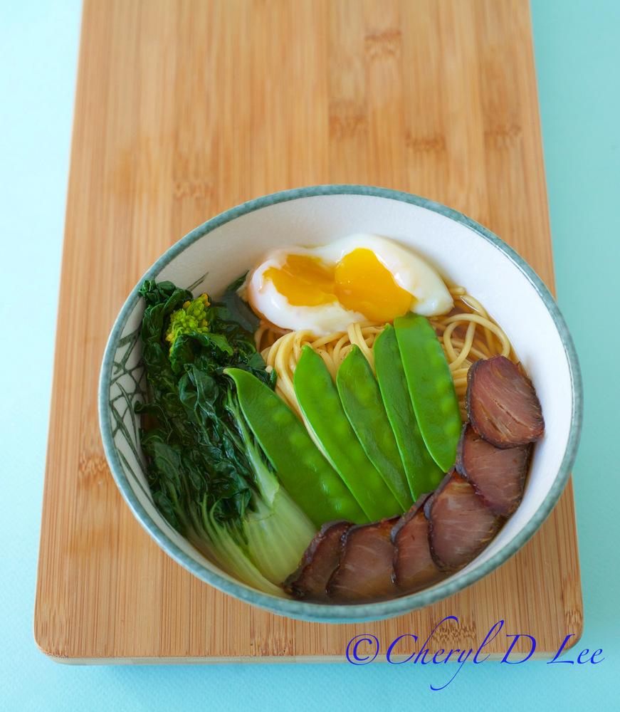Ramen with Choy Sum and Pork