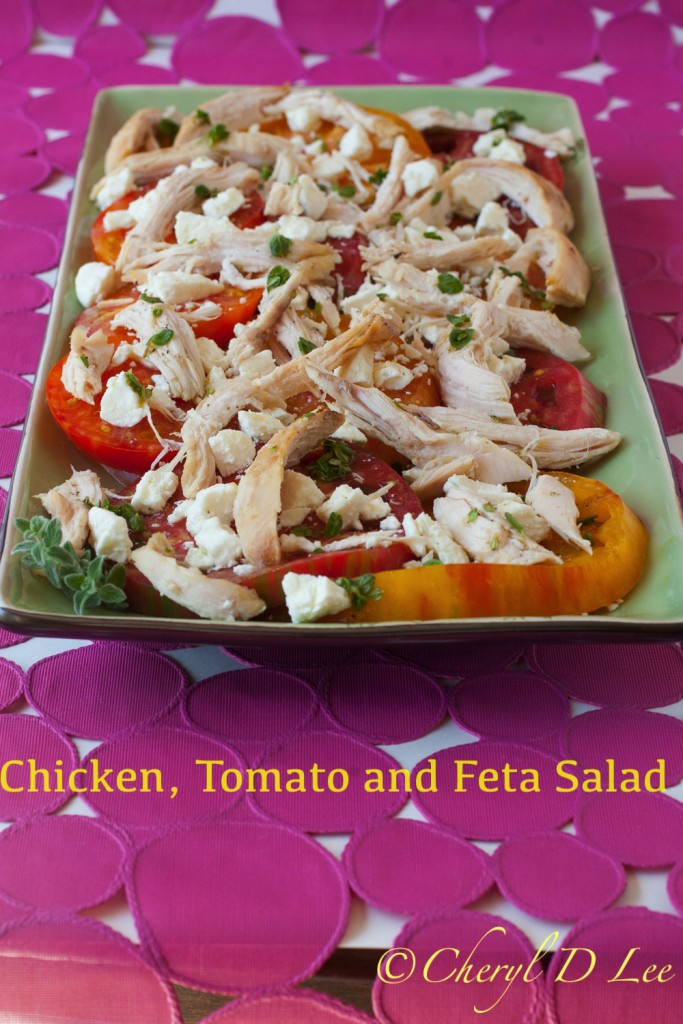 Rotisserie Chicken Makeovers | Rotisserie Chicken, Heriloom Tomato and Feta Salad
