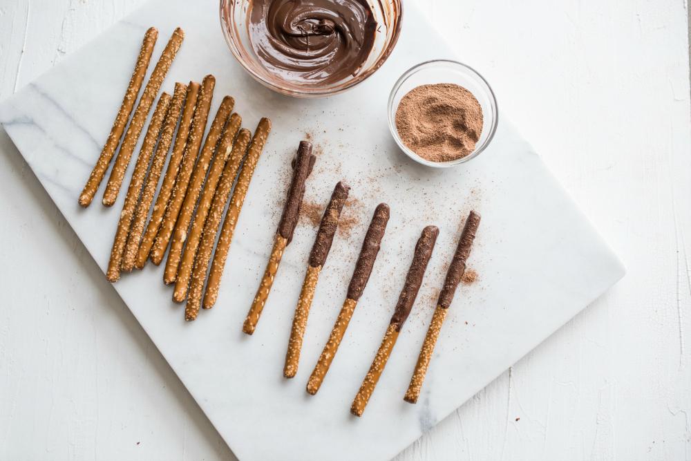 Abuelita Chocolate Dipped Pretzels