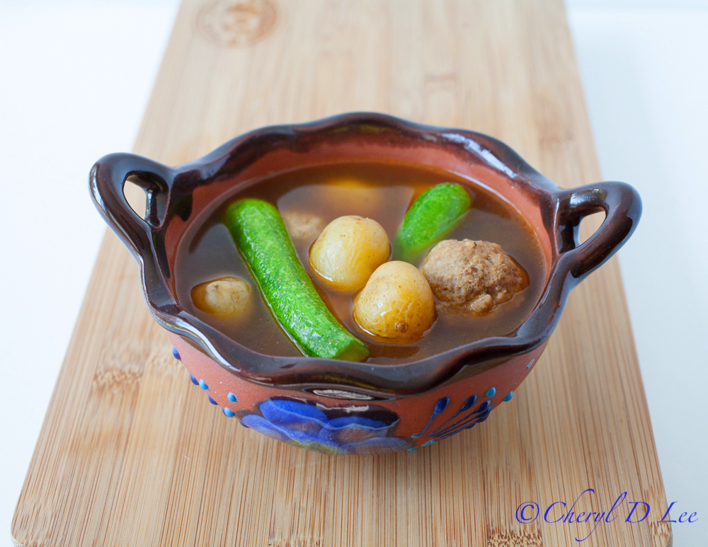 Hatch Chile Meatball Soup