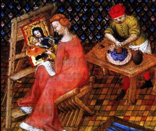 Illustrations from Boccaccio's book De Mulieribus Claris; unknown artist.
