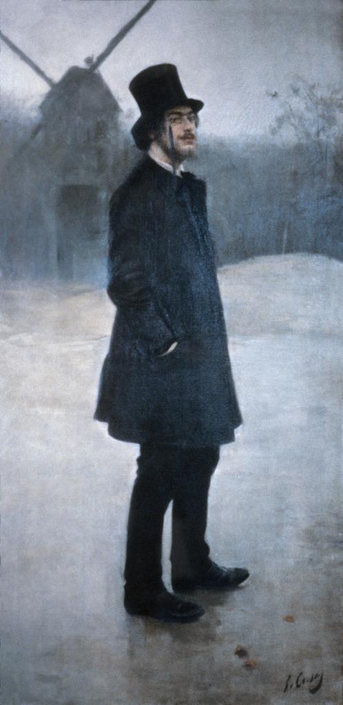 Ram—n Casas Erik Satie (El bohemio; Poet of Montmartre), 1891 oil on canvas, 198.8 x 99.7 cm (78 1/4 x 39 1/4) Northwestern University Library