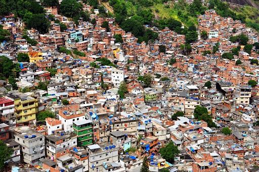 Favela in Rio.