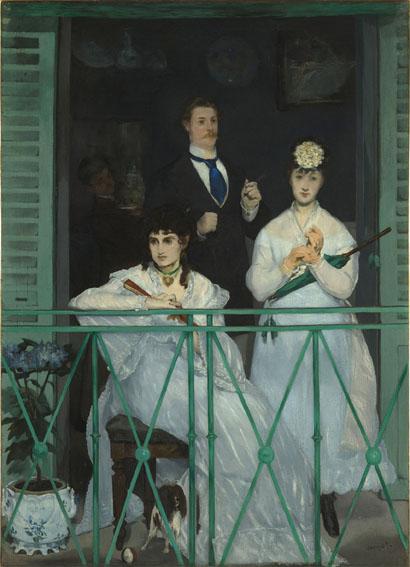 Il balcone, dipinto, Edouard Manet (1832-1883) pittore , MusÈe d'Orsay, Parigi, Francia