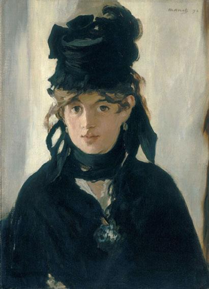 Berthe Morisot con un mazzo di violette